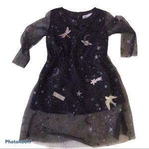 H&M Blue Tulle Embellished Dress
